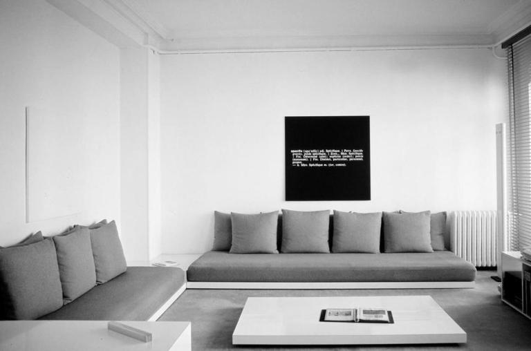 26 rue Beaubourg 75003 Paris : collection d'art minimal et conceptuel dans l'appartement de Ghislain Mollet-Viéville entre 1975 et 1992