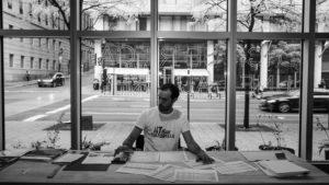 La Fatigue culturelle dans les centres d'artistes du Québec (2017), à la Maison de l'architecture du Québec. Crédit : Marc-André Lefebvre