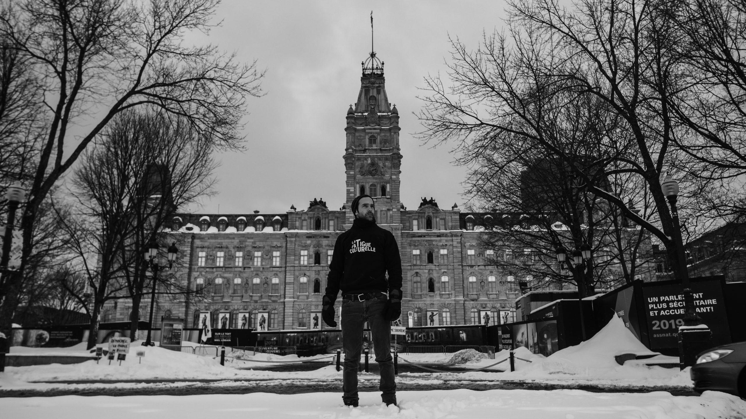 La Fatigue culturelle dans les centres d'artistes du Québec (2018), au Parlement du Québec. Crédit : Marc-André Lefebvre