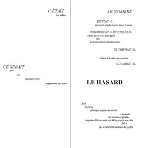 « Un coup de dés jamais n'abolira le hasard », Stéphane Mallarmé, 1897