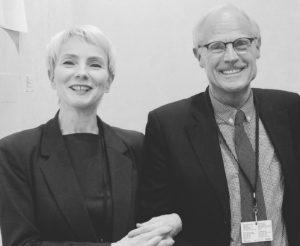 Michèle Didier et Ghislain Mollet-Viéville au vernissage de la Fiac, 2016. Photo : Jacques Salomon