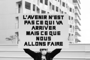 Olivier Garraud, interprétation de « Bas les masques », 2020